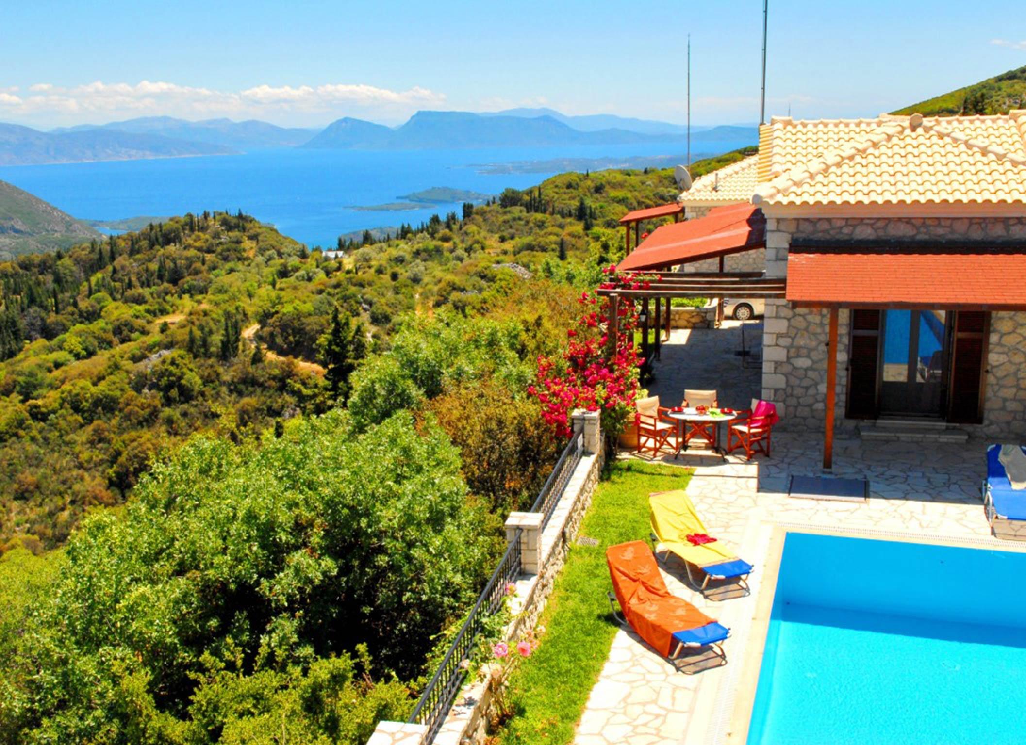 Holiday house Lefkada Villas-villa mit eigenem Pool (2599102), Vafkeri, Lefkada, Ionian Islands, Greece, picture 9