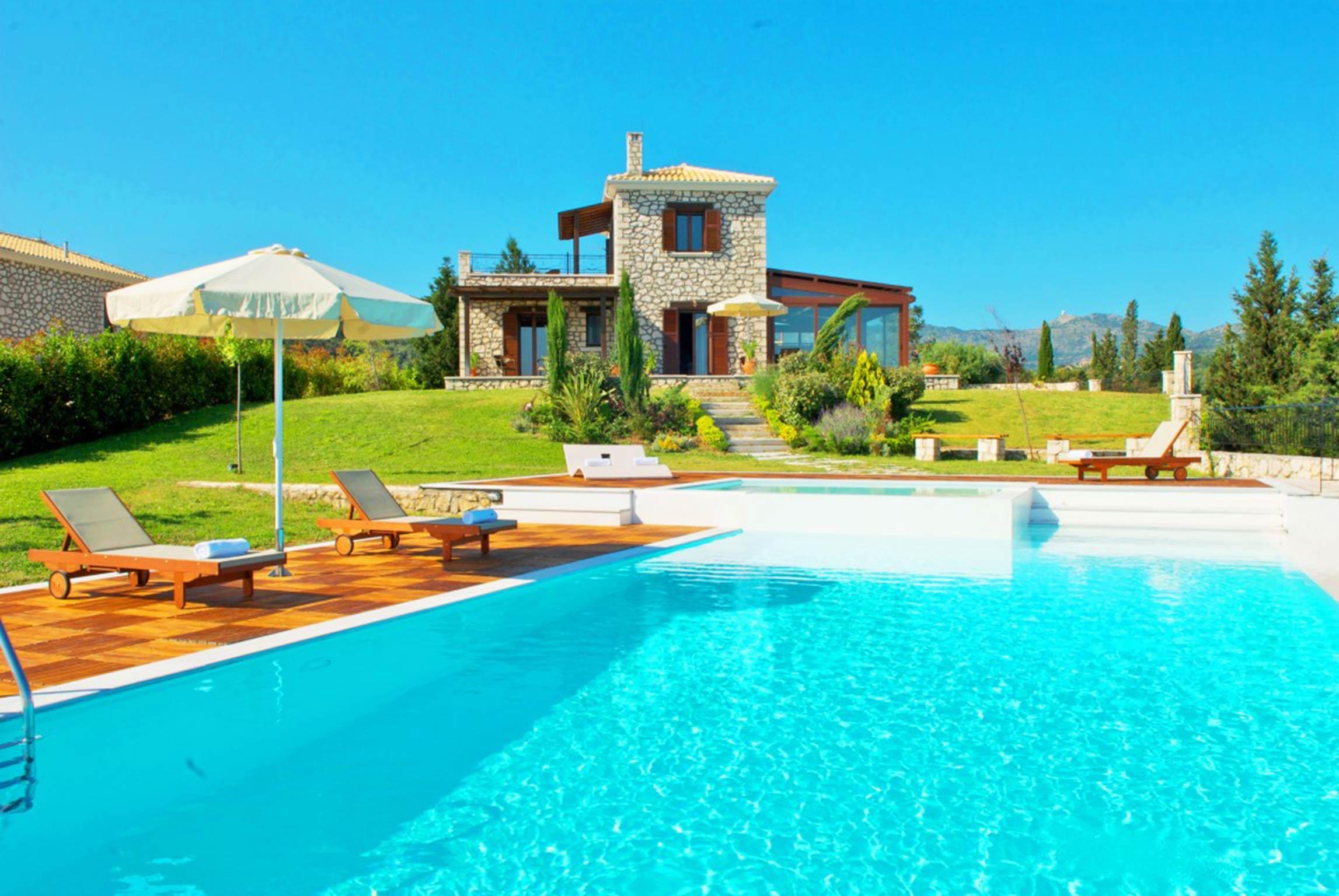 Holiday house Schöne 2 Schlafzimmer Villa mit privatem Pool auf der Insel Os Lefkada (2599104), Spanochori, Lefkada, Ionian Islands, Greece, picture 4