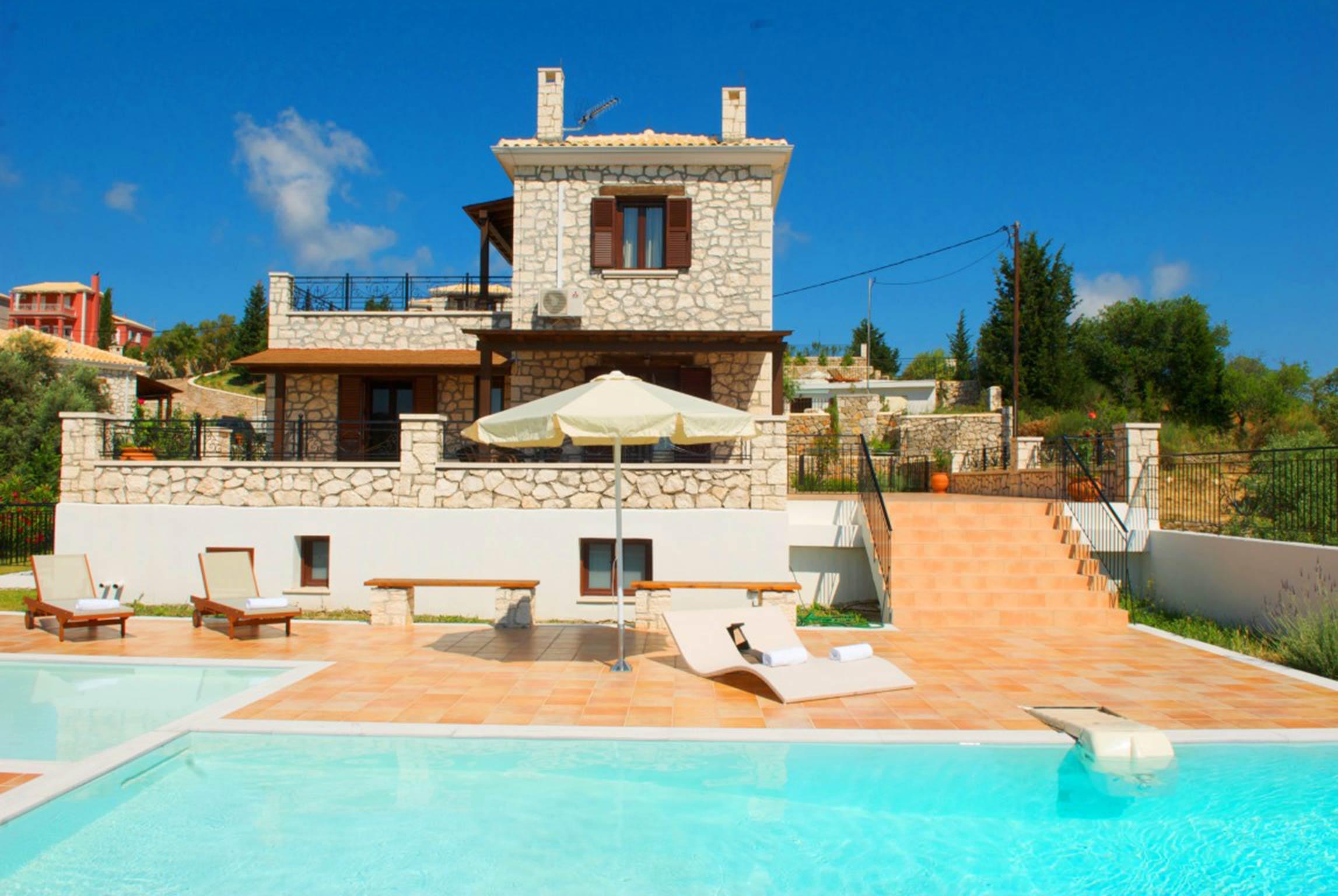 Holiday house Schöne 2 Schlafzimmer Villa mit privatem Pool auf der Insel Os Lefkada (2599104), Spanochori, Lefkada, Ionian Islands, Greece, picture 3