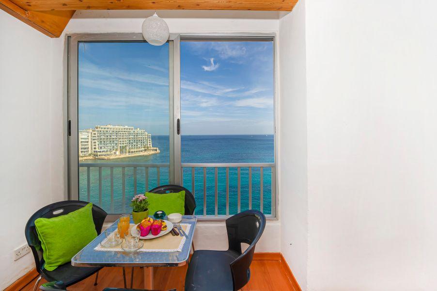GetawaysMalta Spinola Bay Mansion Seafront Apartment in St Julian near Paceville
