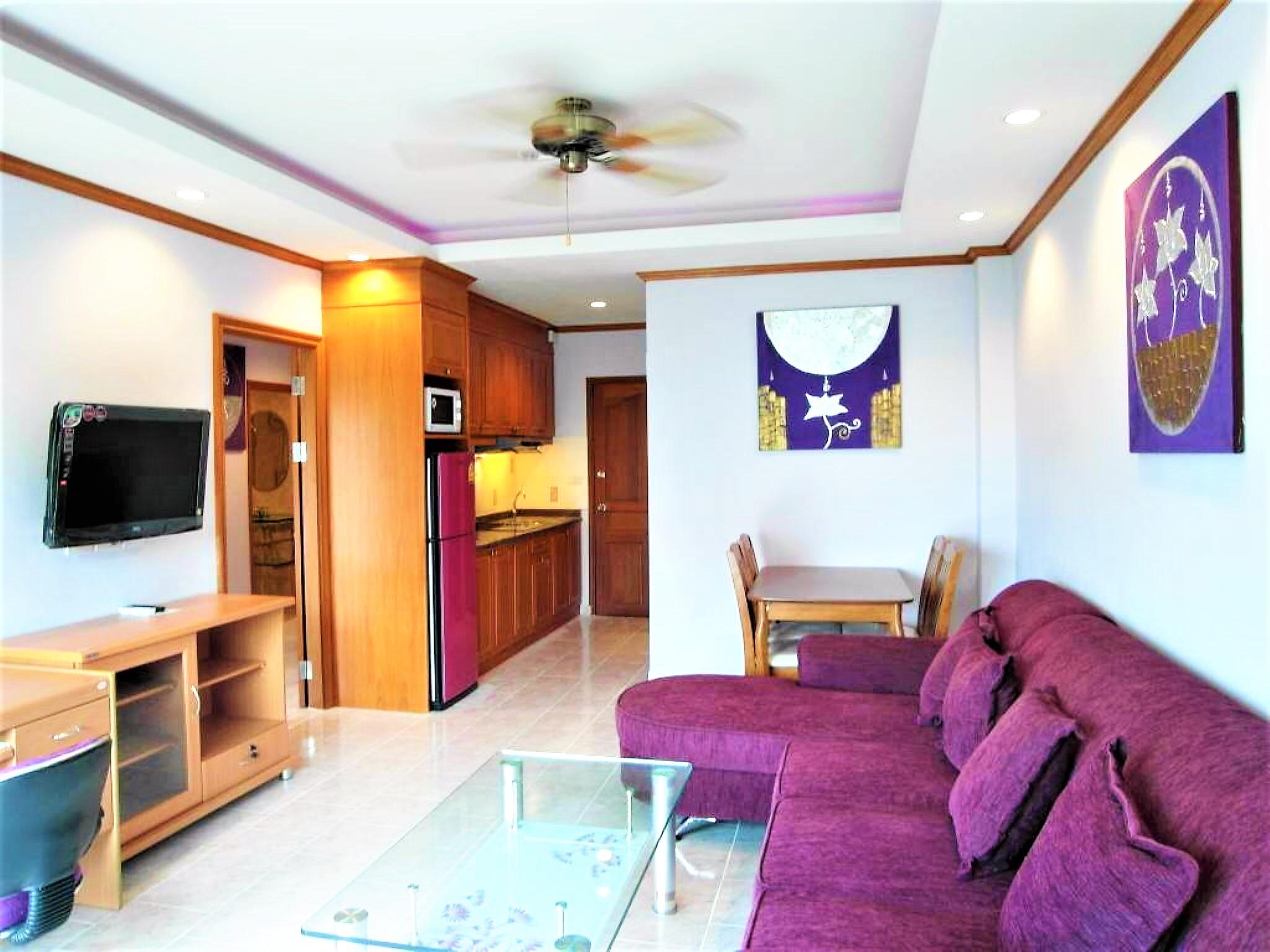 View Talay 1A modernes, voll ausgestattetes, modernes Pattaya mit 1 Schlafzimmer