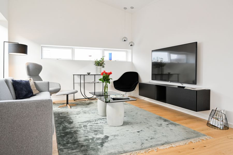 An Amazing 3-Bedroom Apartment with Authentic Danish Designers Furniture