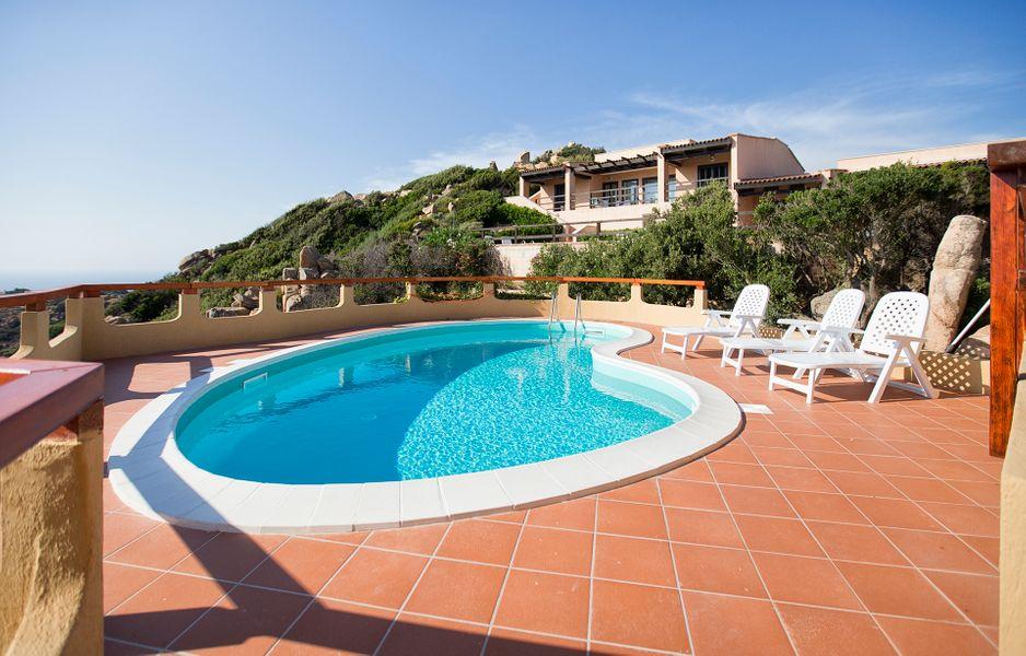 Costa Paradiso villa with sea view pool