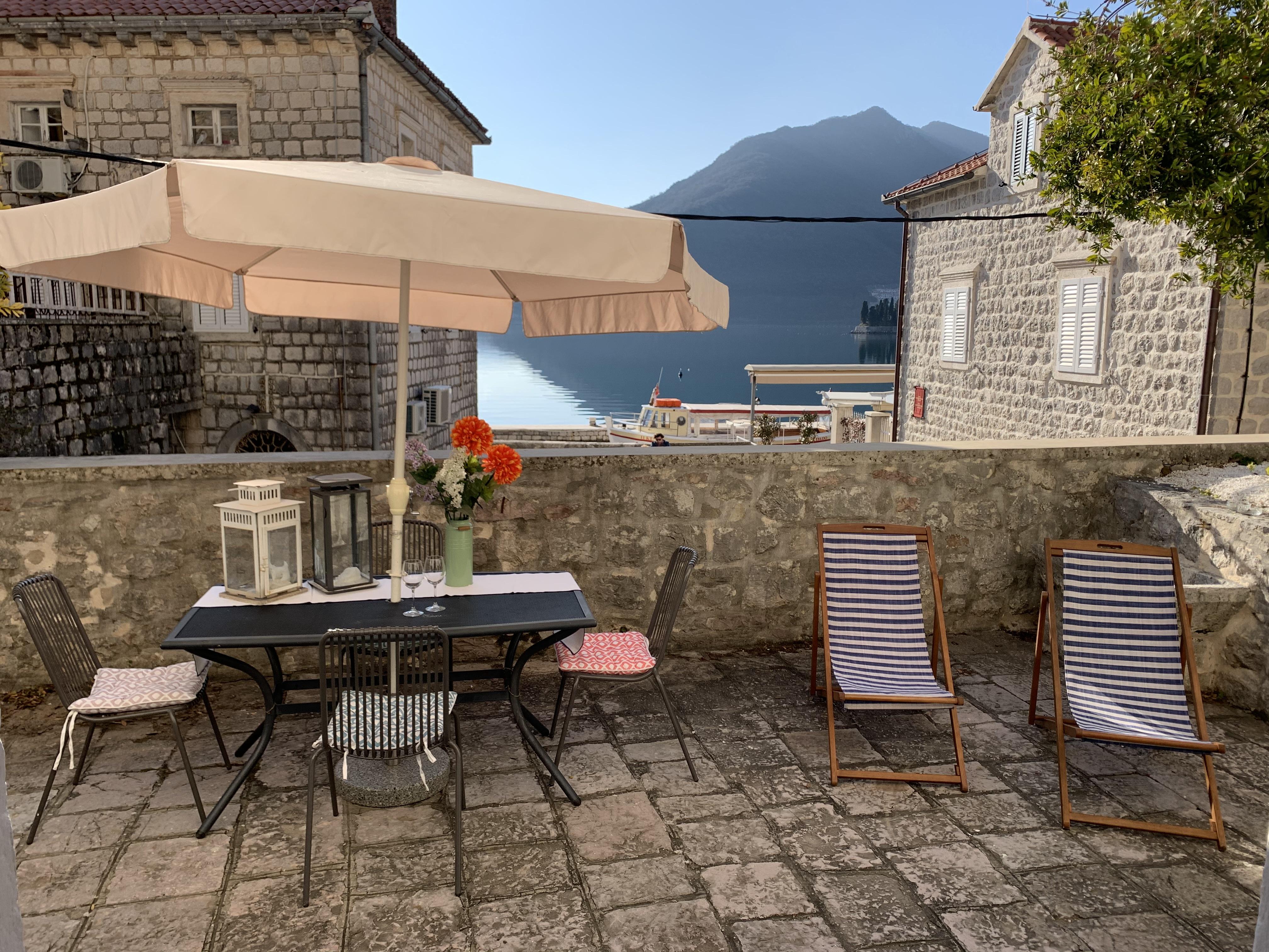 Fab 3 Sea Studio mit einer grosen privaten Terrasse mit kostenlosem Wifi