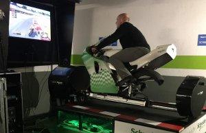 Primer simulador eléctrico capaz de reproducir la emoción de conducir una Moto GP