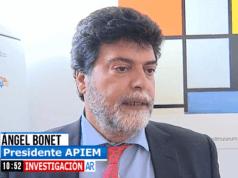 Ángel Bonet, presidente de Apiem, durante su intervención