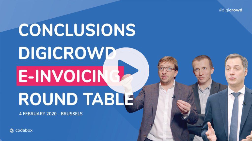 E-invoicing in België: Conclusies van #DigiCrowd Round Table van 4 februari 2020