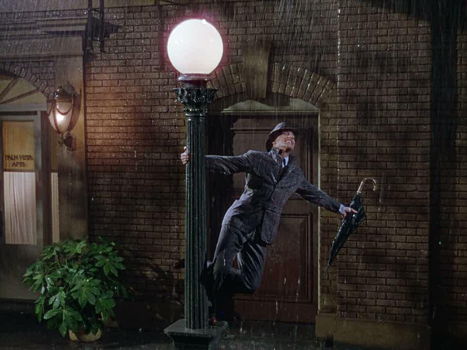 Лучшие джазовые фильмы Поющие под дождем