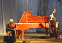 Концерт джаз-вечеринок с В.Фейертагом - пианист Игорь Волоин и контрабасист Юрий Грибецкий