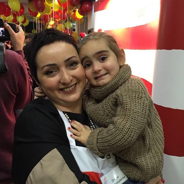 Этери Бериашвили с дочерь Софико