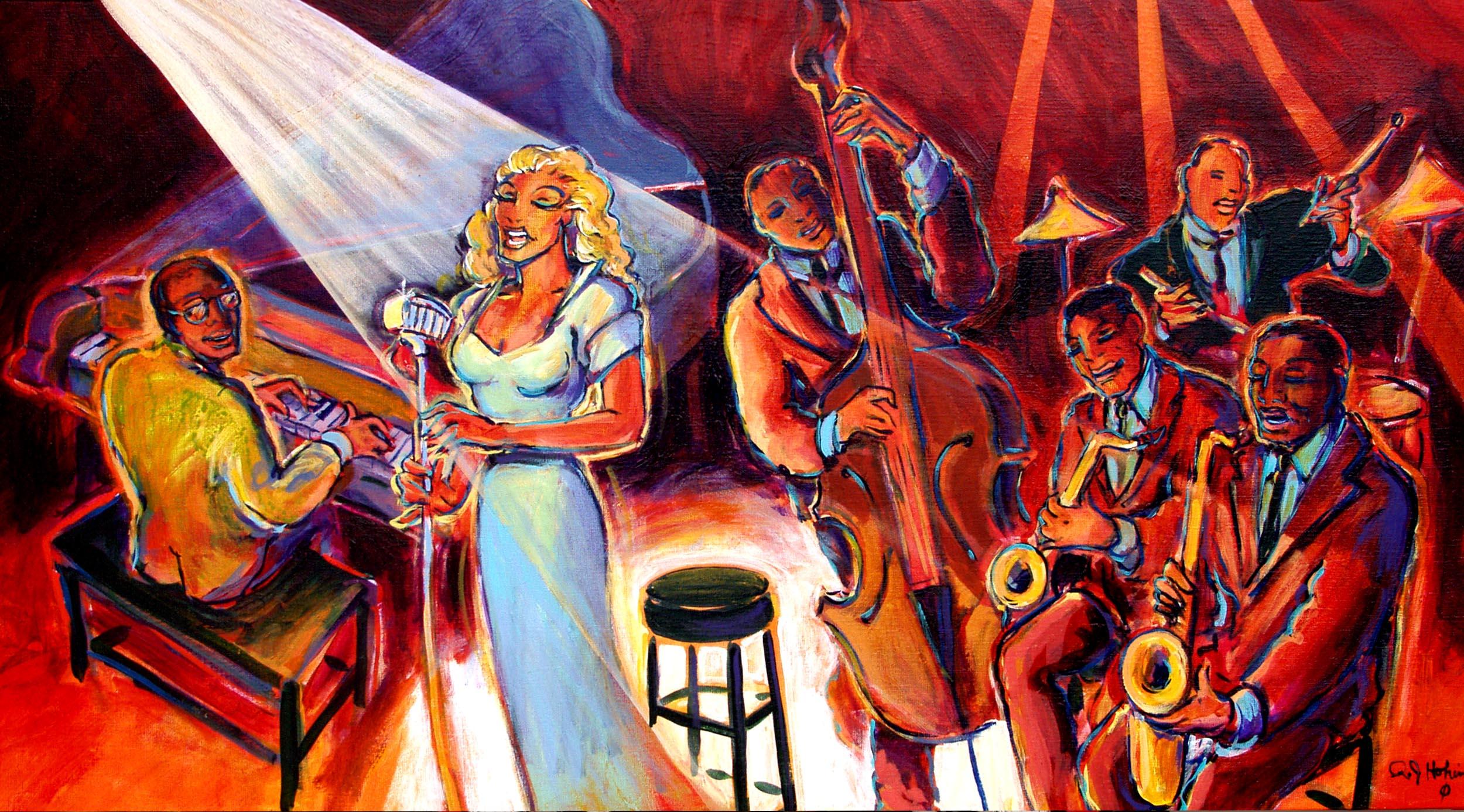 этом картинки в стиле джаз и блюз учатся