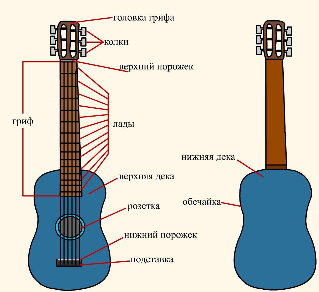 Научиться играть на гитаре в картинках