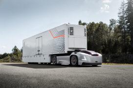 Elektrische voertuigen voor non-stop transport over vast traject