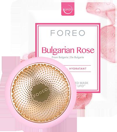 FOREO Bulgarian Rose Maske mit UFO