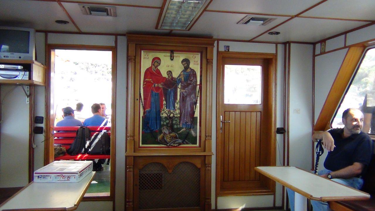 икона Святых и Праведных Богоотец Иоакима и Анны с Богородицей