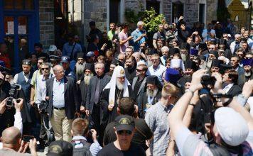 Встреча патриарха Кирилла на Св. горе Афон. Май 2016