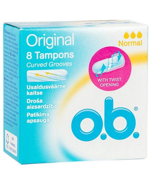 O.B Original Normal Tampons 8 Pieces