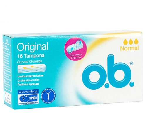 O.B Original Normal Tampons 16 Pieces