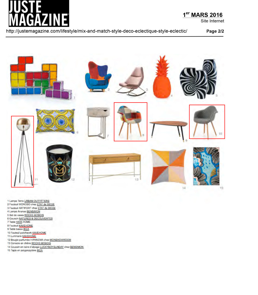 Juste Magazine Kavehome