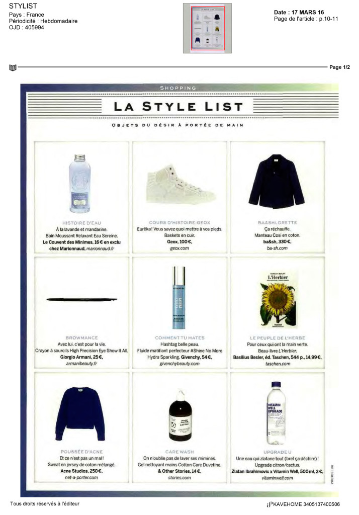 La Style List Kavehome