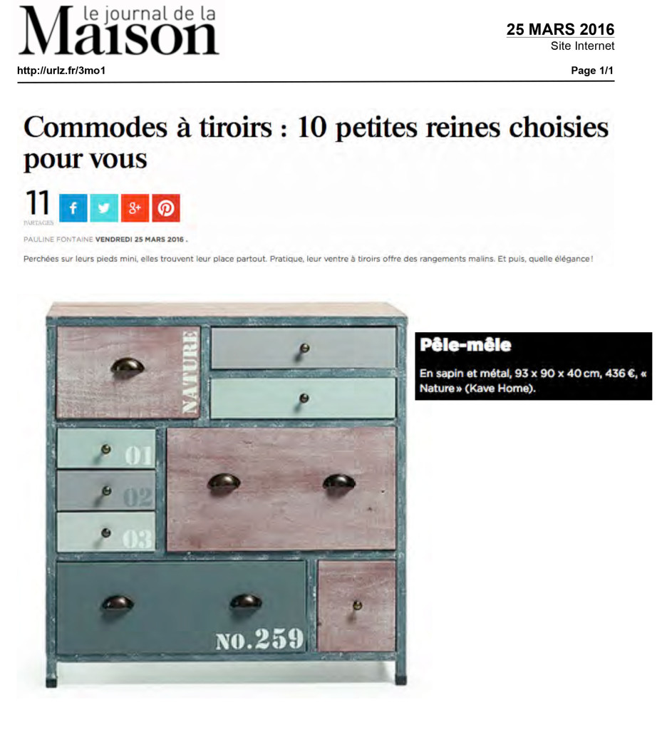 Le Journal de la Maison Kavehome