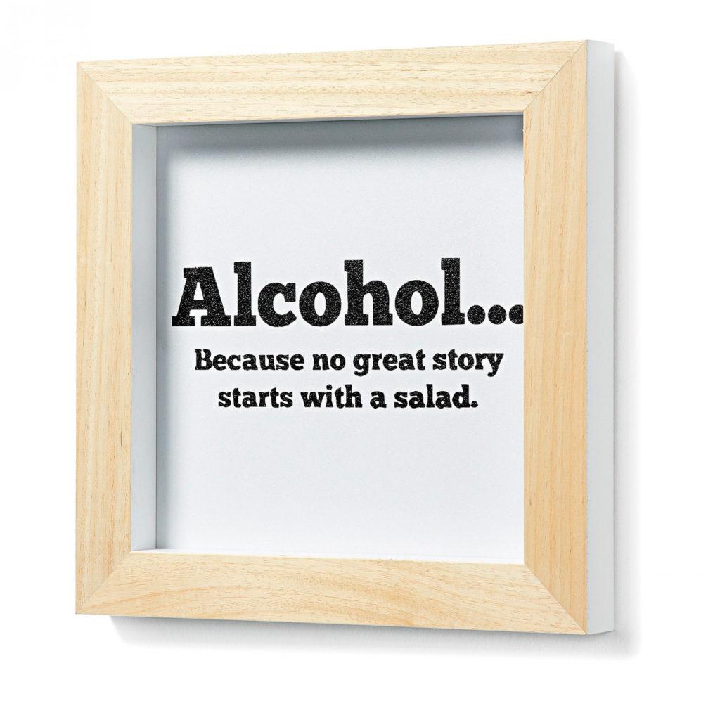 Texte décoratif sur l'alcool pour vos murs