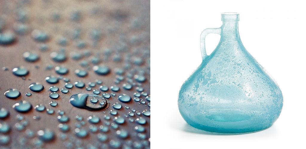 Fraîcheur décorative avec un vase bleu