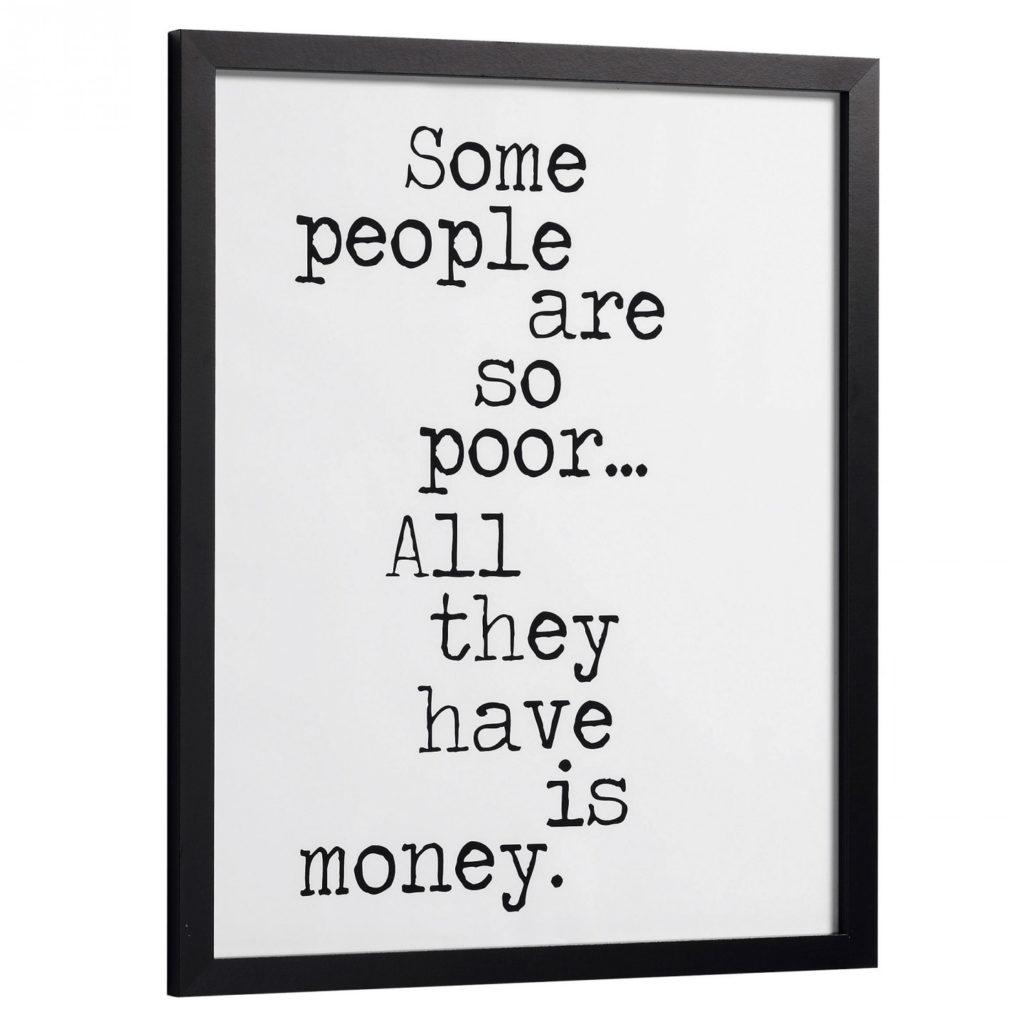 Texte décoratif sur l'argent pour vos murs