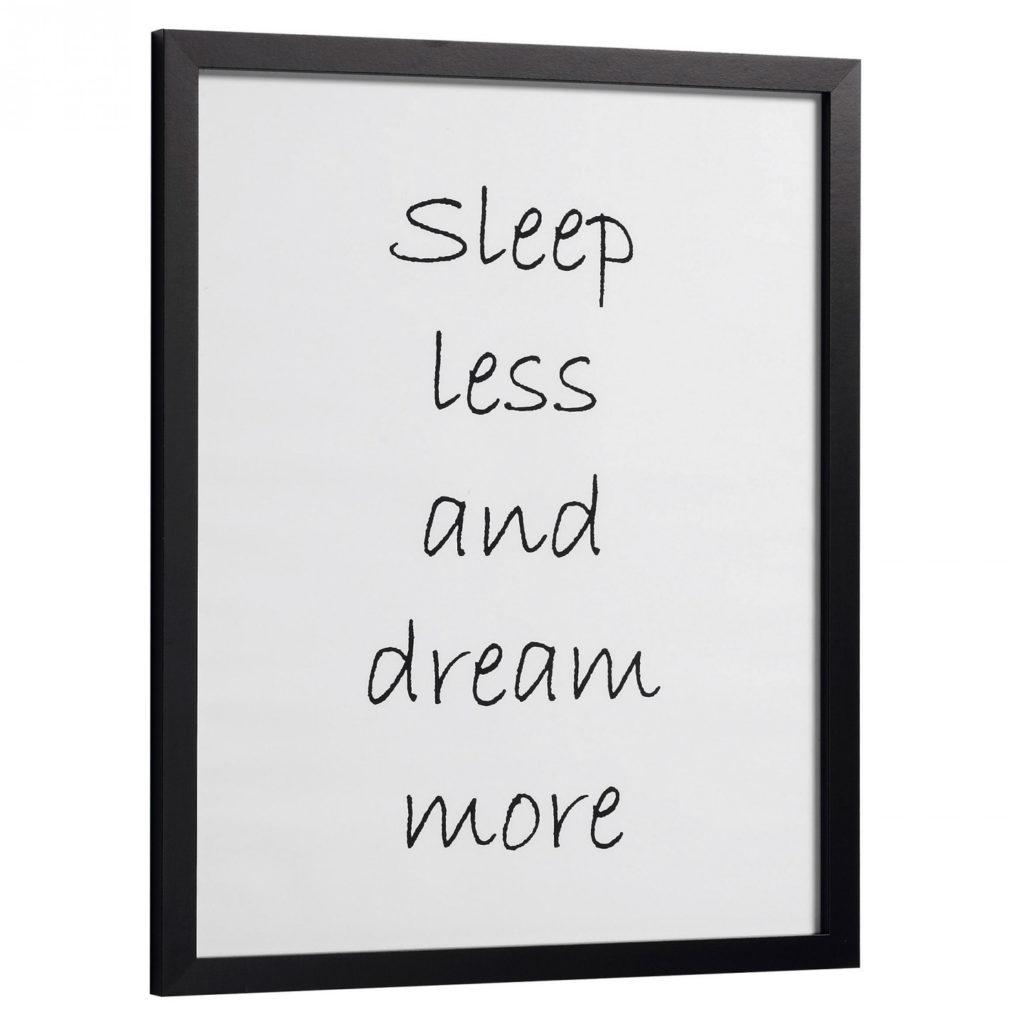 Texte décoratif sur le fait de rêver pour vos murs
