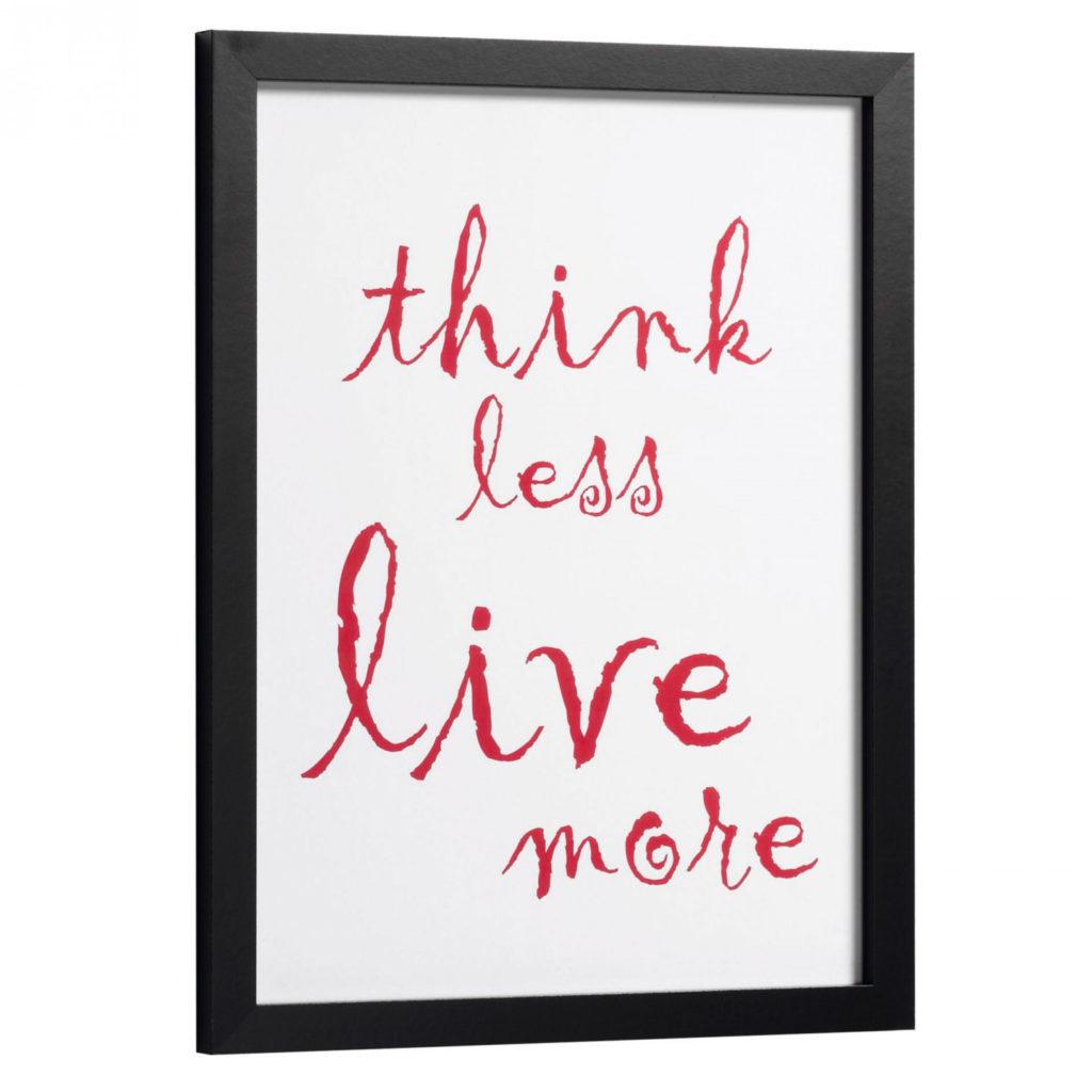 Texte décoratif sur le fait de vivre plus pour vos murs