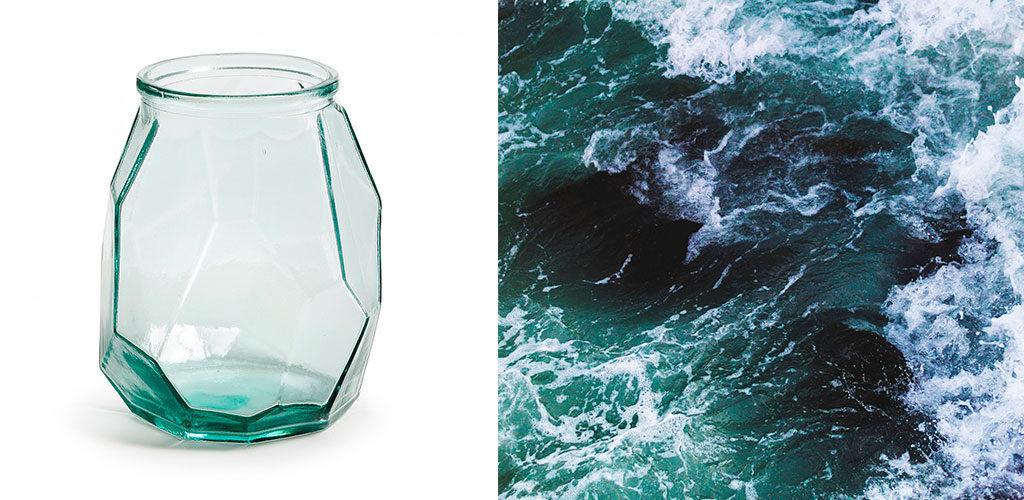 Un vase qui apporte autant de fraîcheur que l'eau