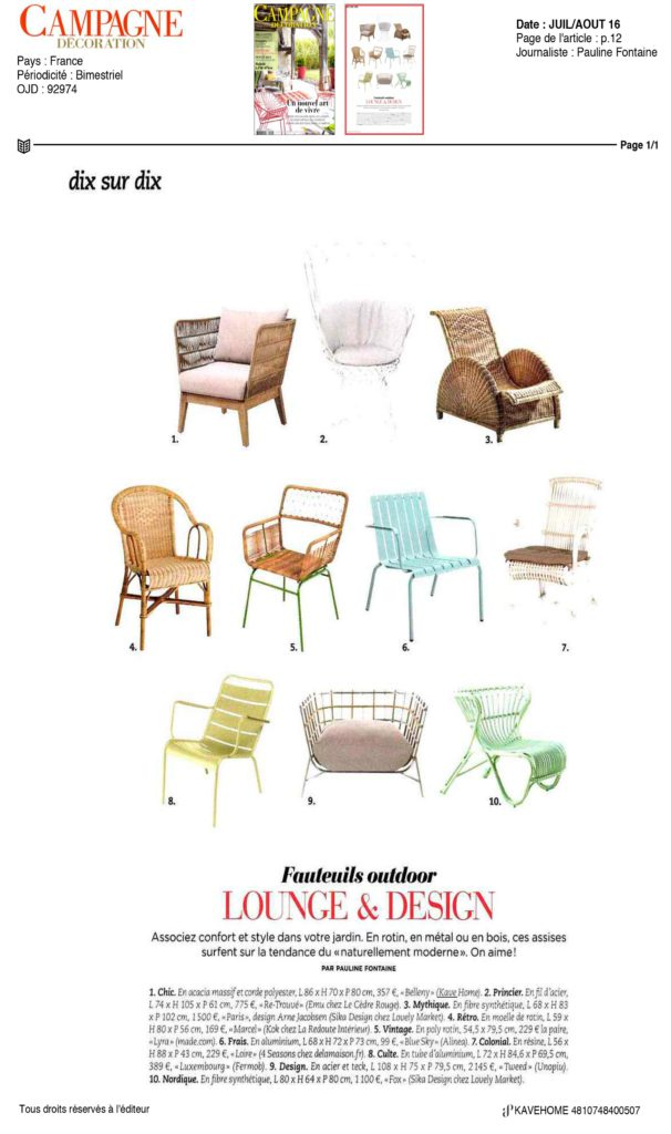 Kavehome dans CAMPAGNE & DECORATION