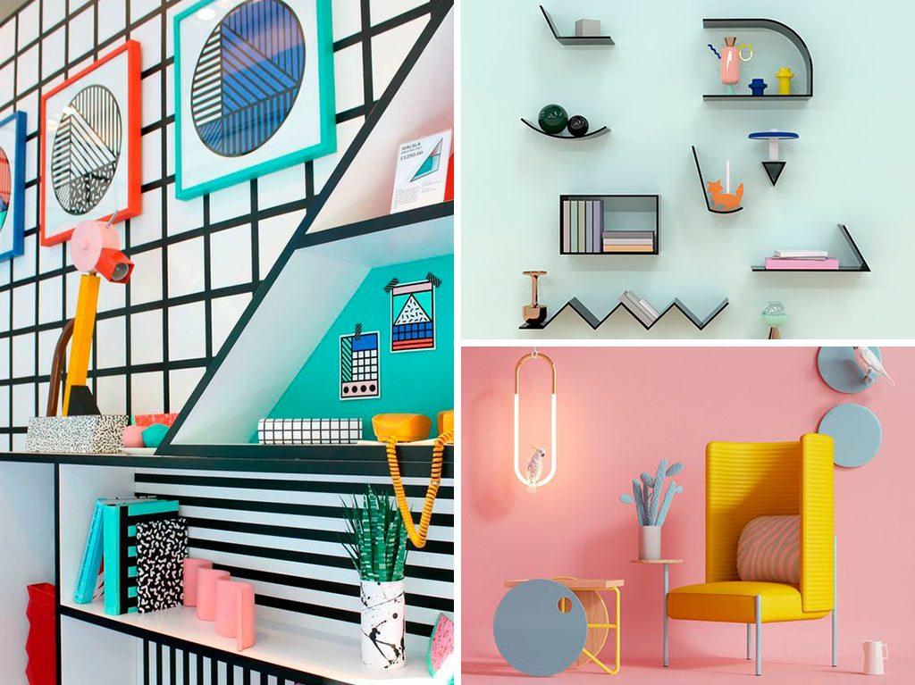 estilo-memphis-diseño-interiores-decoración-geometría-estampados-2-1024x767