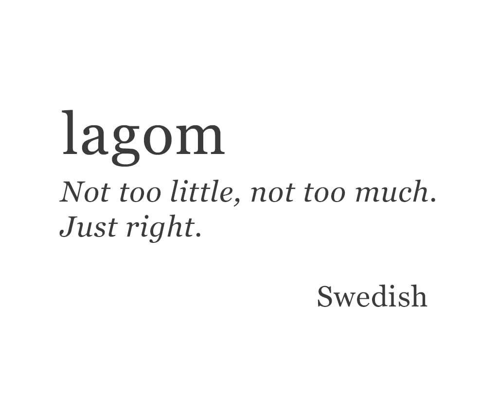lagom, hygge, lifestyle