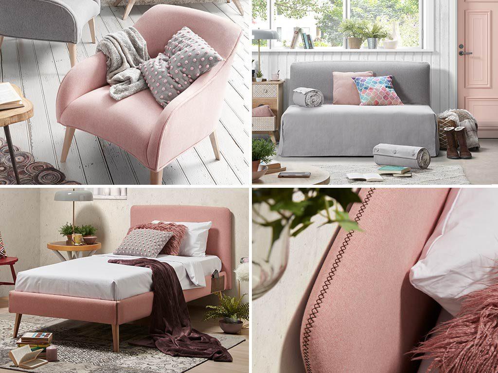 millennial pink-rosa-decoración-muebles