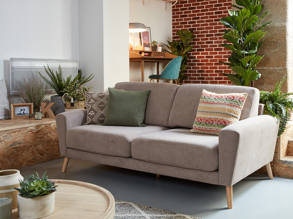 Narnia sofa brown fabric