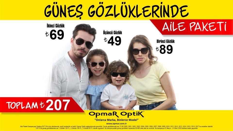 Güneş Gözlüklerinde Aile Paketi