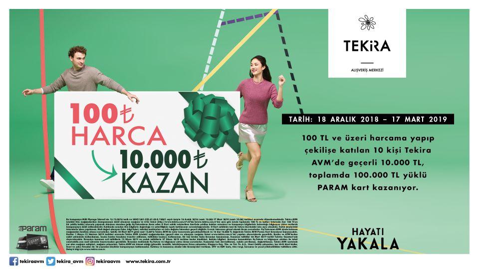 100 TL Harca 10,000 TL Kazan