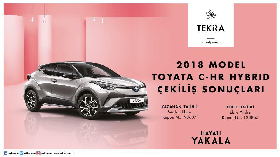 2018 Model Toyota C-HR Hybrid Çekiliş Sonuçları