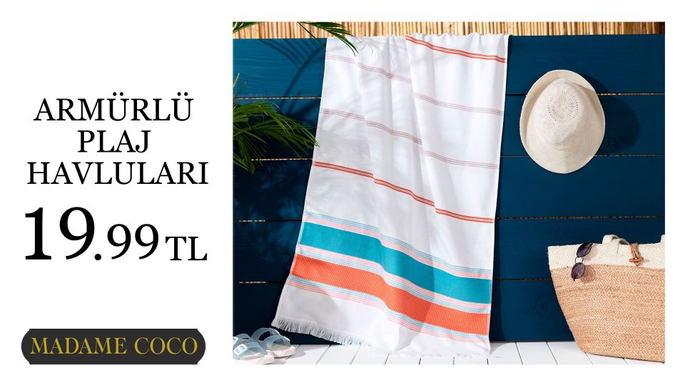 Armürlü Plaj Havluları 19.99 TL