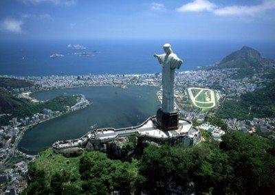 La statue du Christ Rédempteur de Rio de Janeiro au Brésil