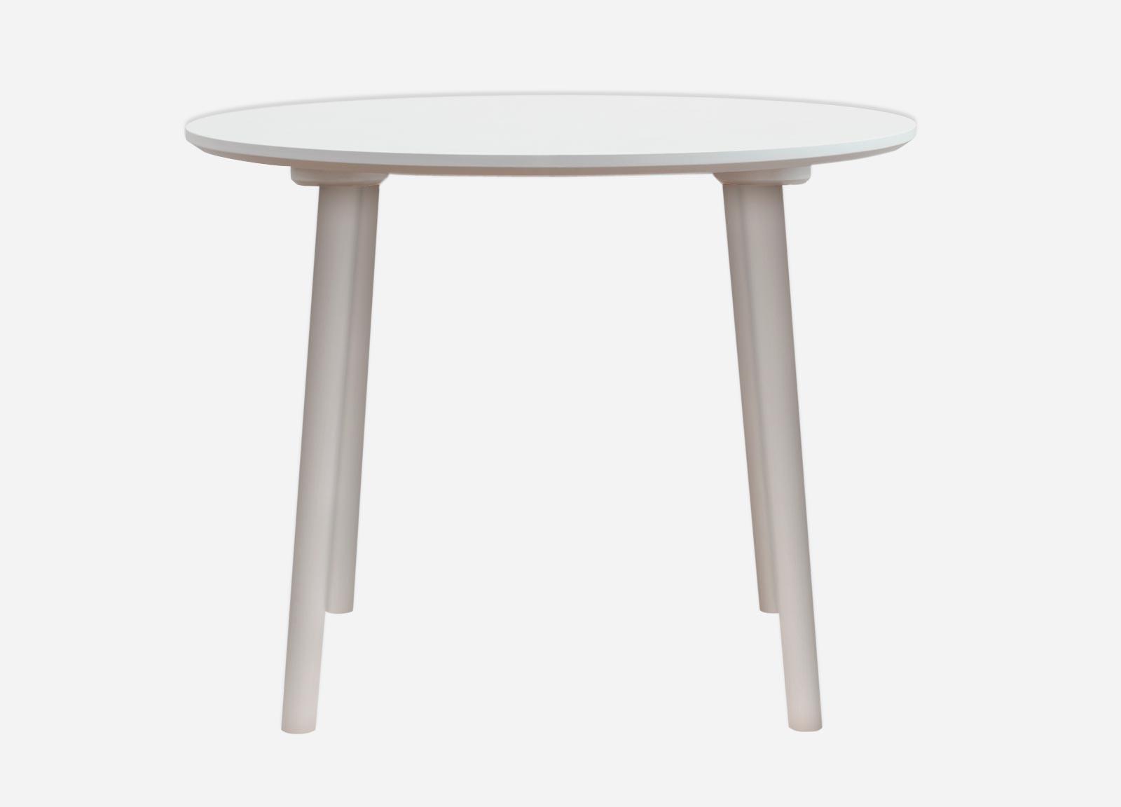 Pæn Rundt spisebord med laminat i hvid, sort eller antracit ZN64