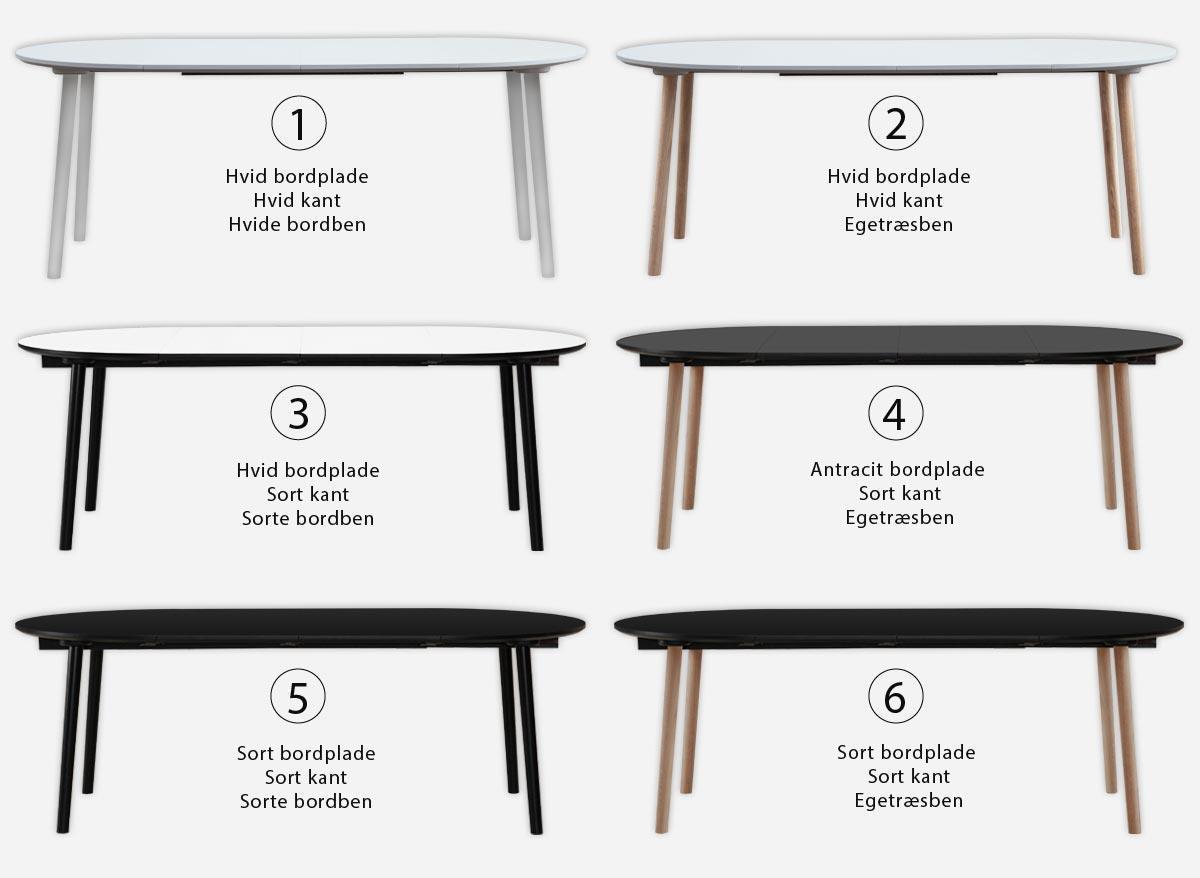 spisebord udtræk Rundt spisebord med udtræk og ekstra tillægsplader spisebord udtræk