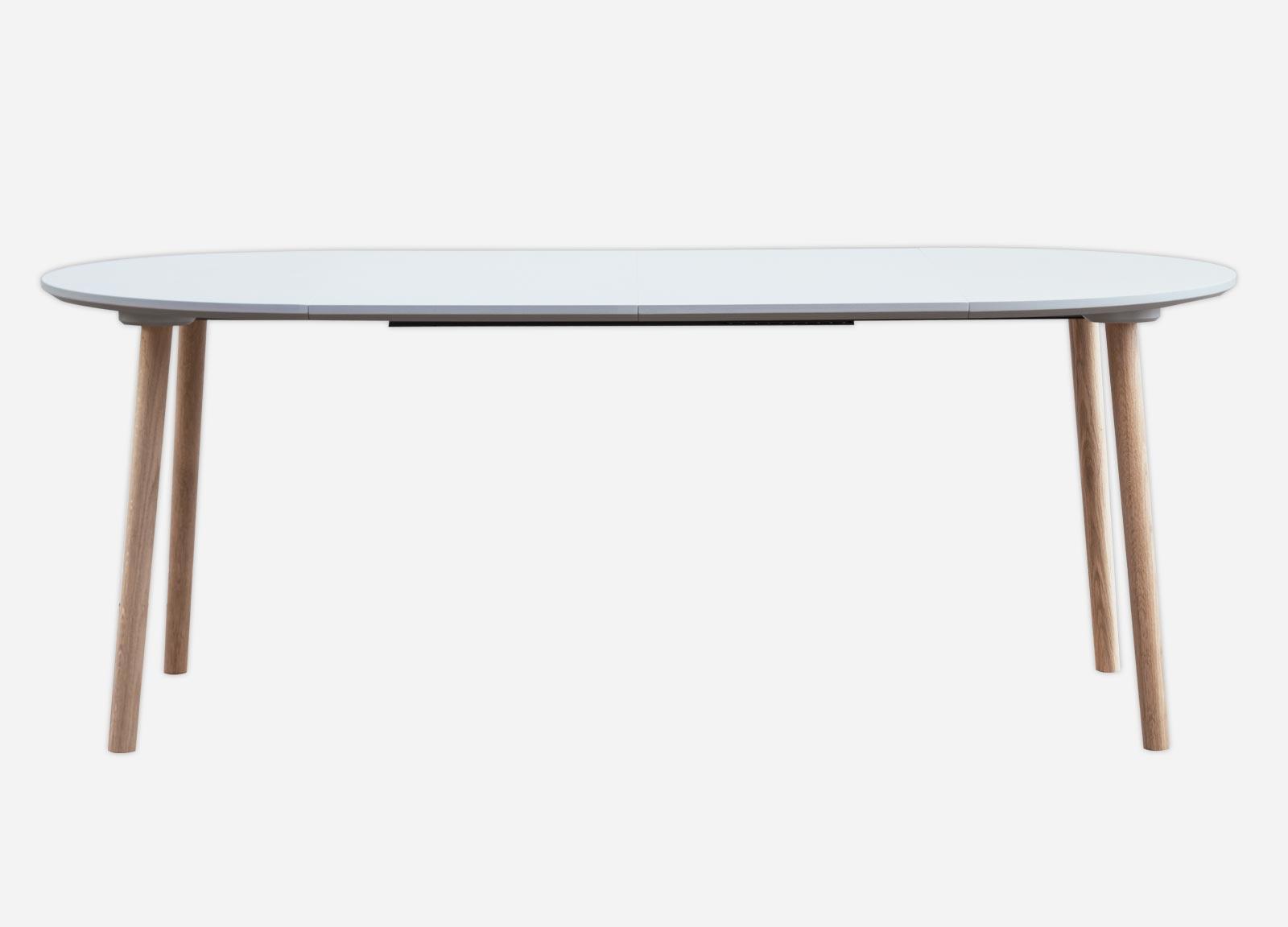 spisebord med udtræk Rundt spisebord med udtræk og ekstra tillægsplader spisebord med udtræk