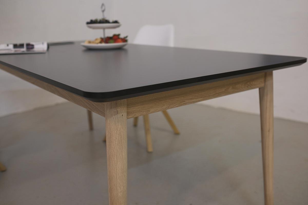 spisebord laminat Firkantet spisebord med udtræk i laminat spisebord laminat