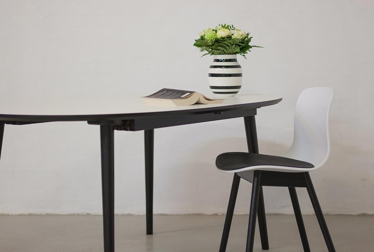 spisebord med tillægsplader