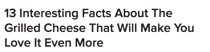 BuzzFeed Headline Copywriting Formula