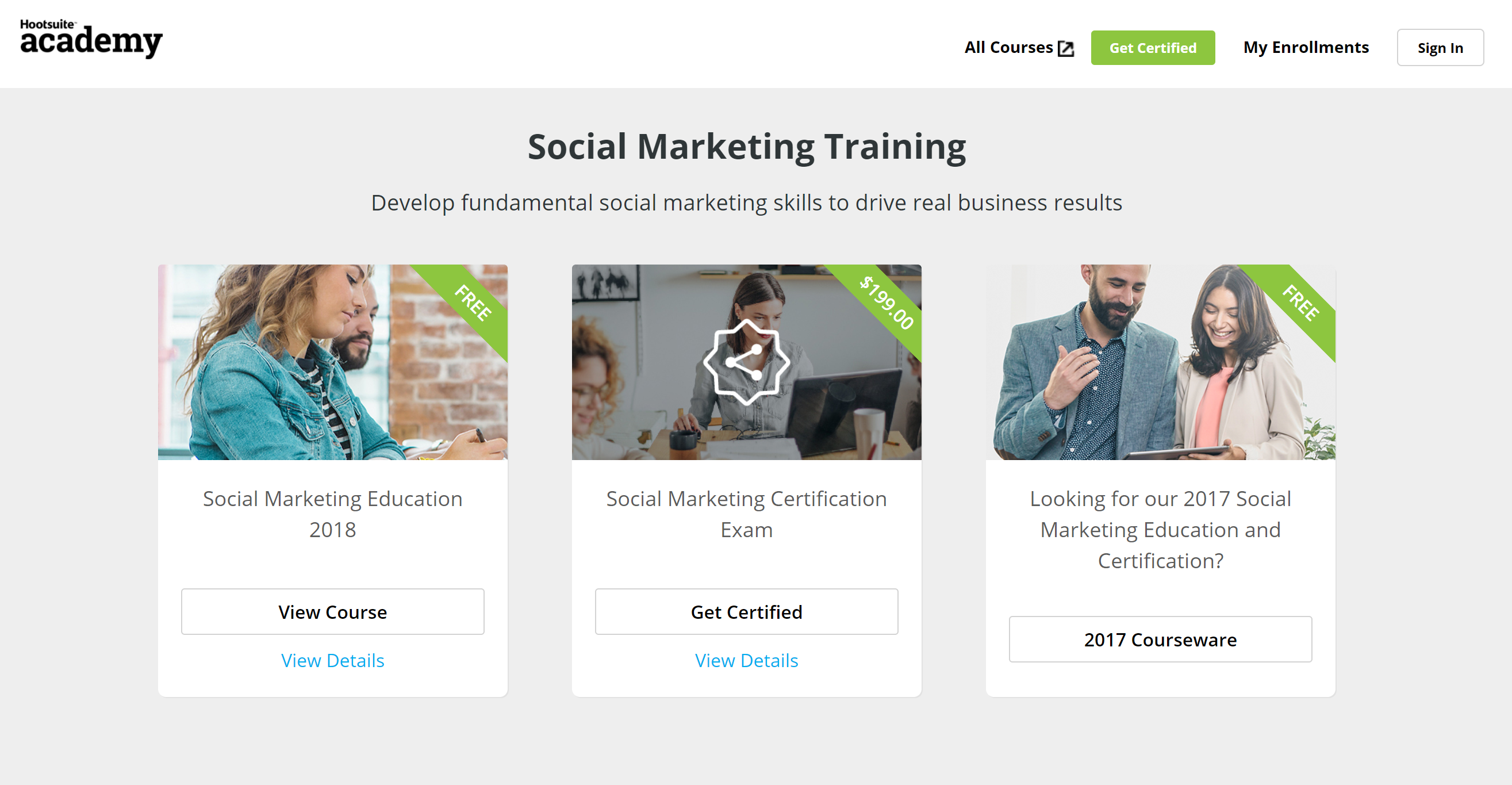 12 marketing certifications that can land you a job at ladder 12 hootsuite social media marketing xflitez Choice Image