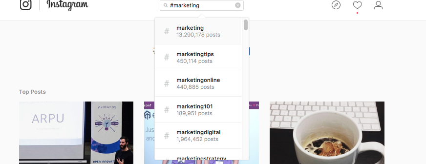 Researching Instagram Hashtags