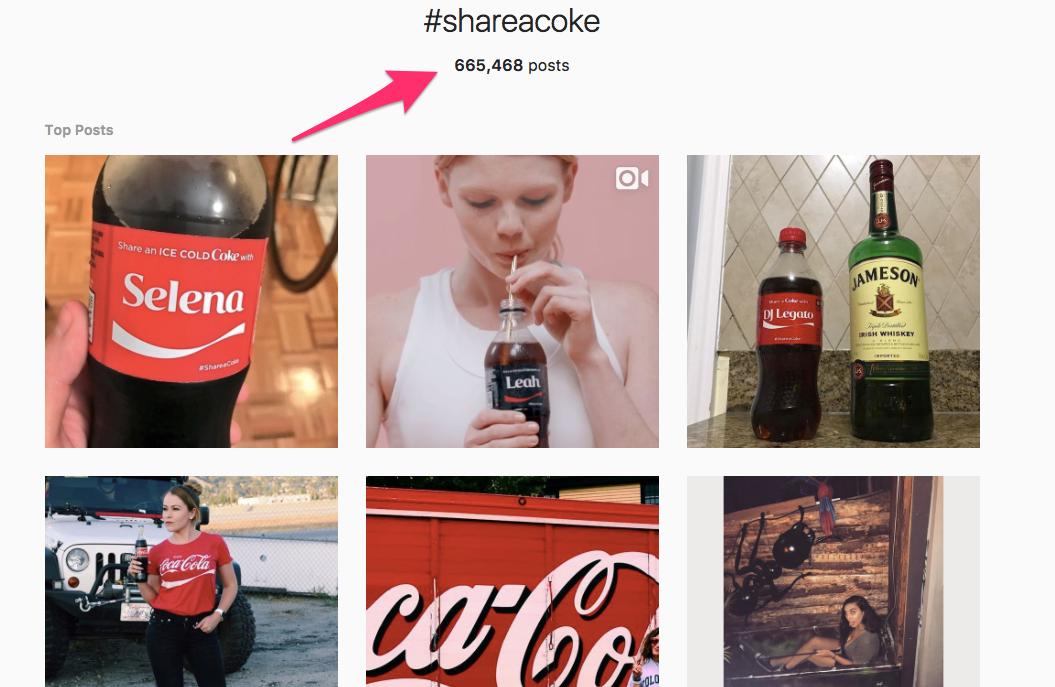 The #ShareACoke Hashtag on Instagram